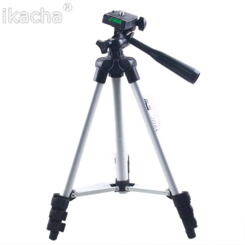 Tripé Com 3-Way HeadTripod Para Nikon D7100 D90 D3100 DSLR Para Sony NEX-5N A7S Para Canon 650D 70D 600D WT-3110A Câmera Digital