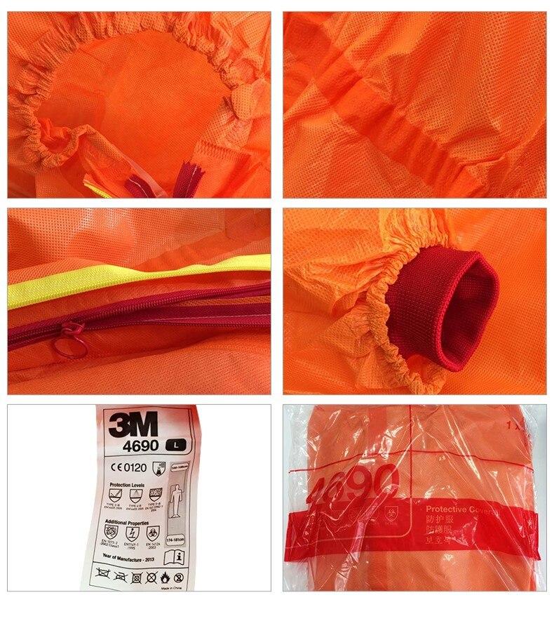 3M 4690 Koruyucu Kıyafetler Nükleer Radyasyon Koruyucu Kimyasal - Güvenlik ve Koruma - Fotoğraf 4