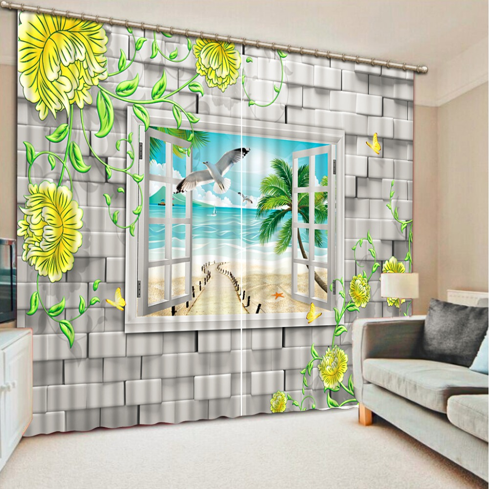 White And Black Curtains For Living Room Online Get Cheap Patterned Blackout Curtains Aliexpresscom