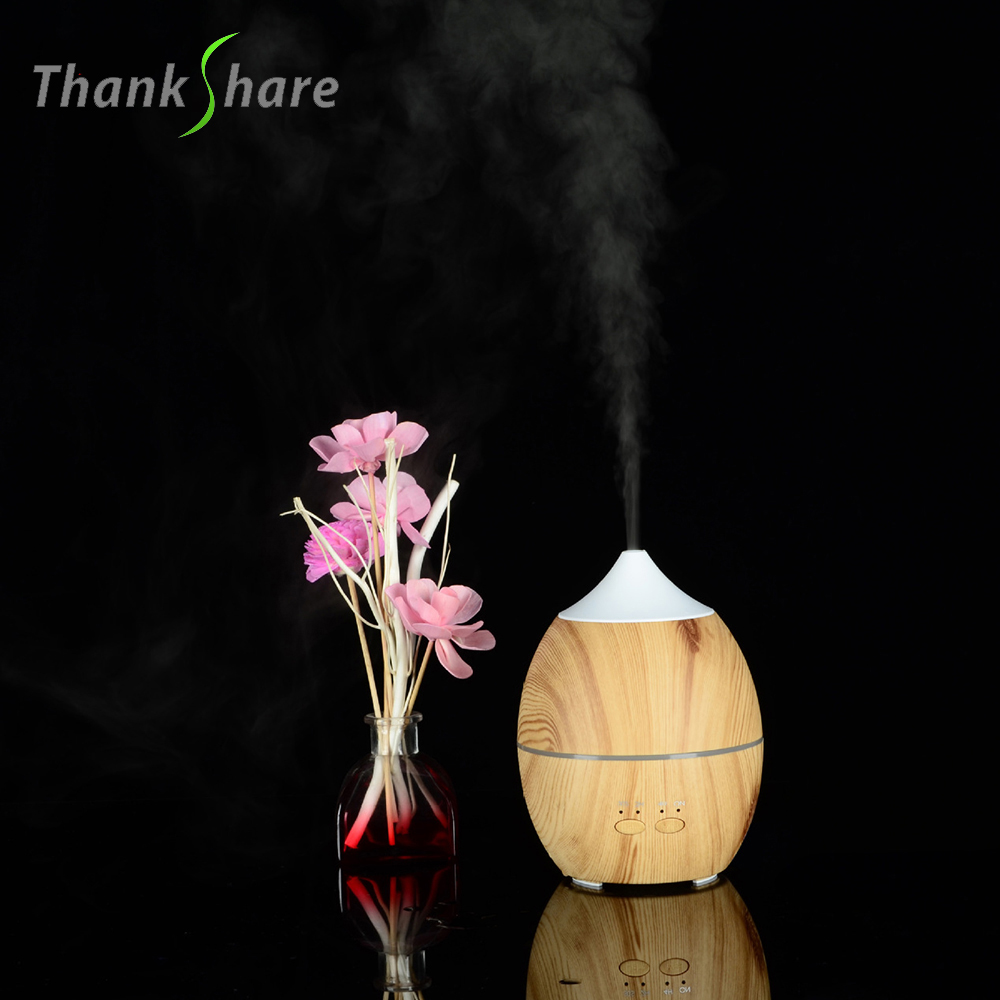 THANKSHARE 300ml Portable Essential Oil Aroma Diffuser Ultrasonic Humidifier Air Aromatherapy Atomizer Mist Maker for home
