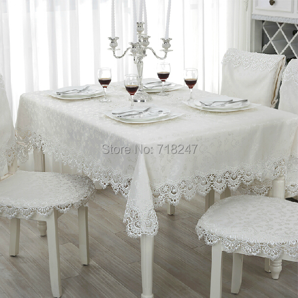 Buy hot sale elegant 100 polyester jacquard lace tablecloth for wedding party - Tovaglie da tavola eleganti moderne ...