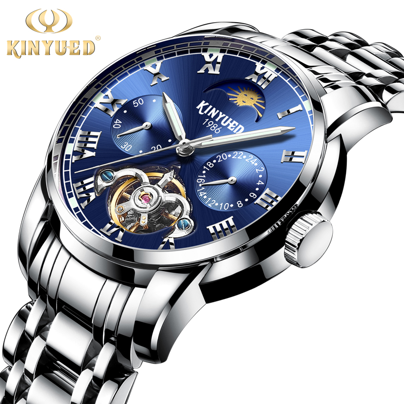 2018 KINYUED Men Tourbillon Mechanical Watch Clock Skeleton Wristwatches Top Brand Luxury Montre Homme Geniune Luminous 2018 KINYUED Men Tourbillon Mechanical Watch Clock Skeleton Wristwatches Top Brand Luxury Montre Homme Geniune Luminous