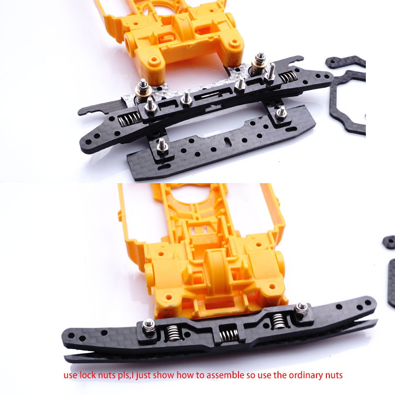 carbon set up left and right back and Points to move springs for tamiya MS chassis