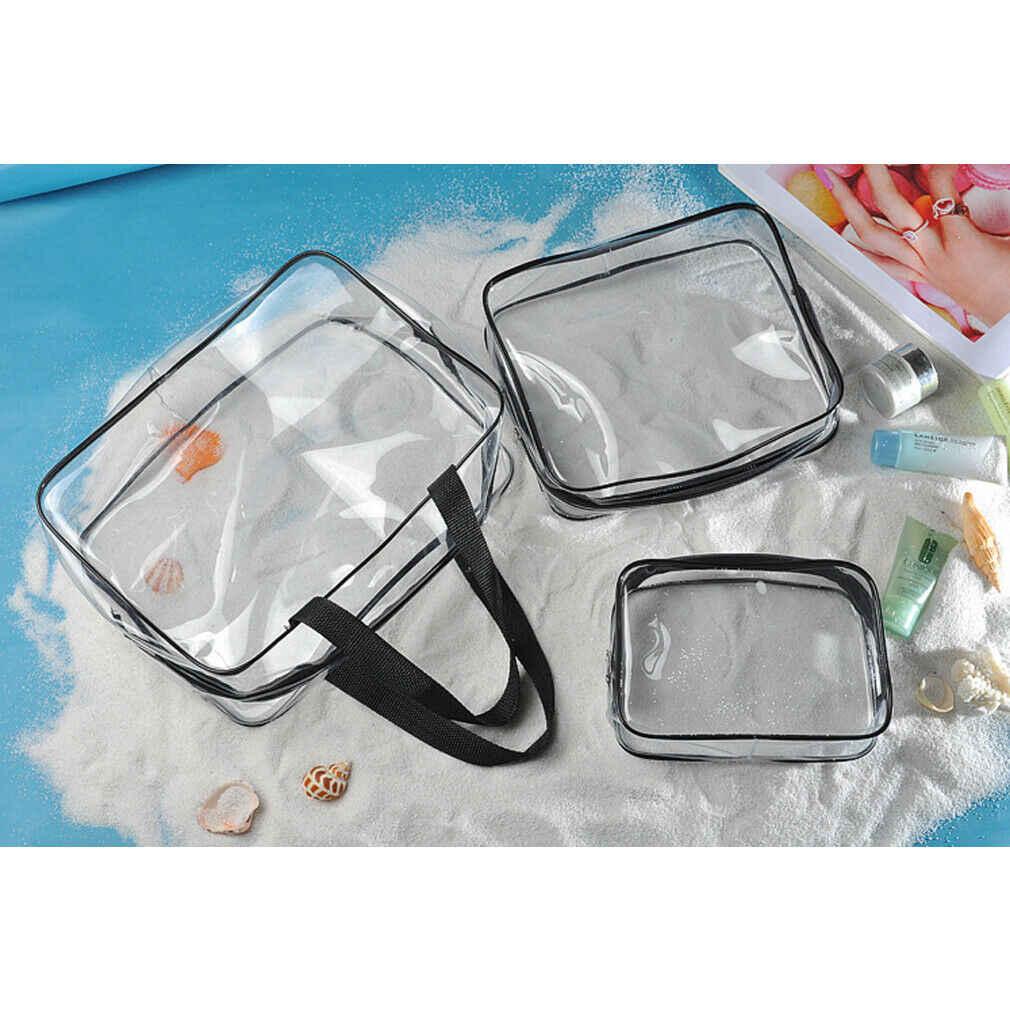 Ocasional PVC plástico transparente sacola de armazenamento saco de cosmética saco de lavagem de viagem portátil saco de multi-função à prova d' água