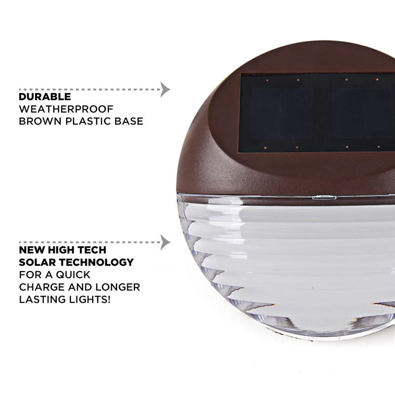 4Pack-LED-Solar-Lamp-2LED-warm-white-IP55-Waterproof-Outdoor-Solar-Deck-Light-Wall-Mount-Sconce
