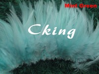 Mint Green rooster saddle hackle feathers rolls 12 15cm/5 6 Dyed chicken feathers for cloth edges 1kgs/lot