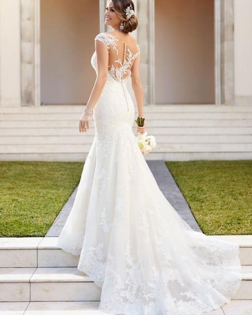 Vestido De Casamento Brautkleid Rustikalen Frauen Sexy Meerjungfrau ...