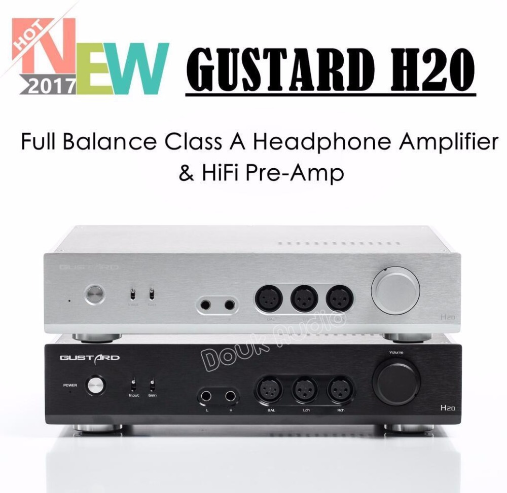 Nobsound GUSTARD H20 Full Balance Class A Stereo Headphone Amp / Audio HiFi Pre-Amp носки мужские гранд цвет серый 2 пары zc113 размер 29