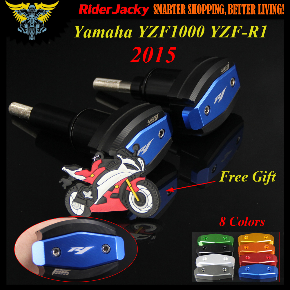 Blue Motorcycle Frame Crash Pad Engine Stator Cover Slider Protector For Yamaha YZF R1 YZF1000 YZF-R1 2015