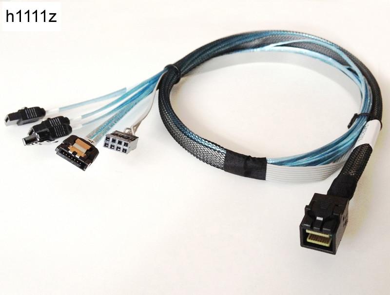Vorwärts Kabel Interne Mini SAS SFF-8643 SFF 8643 zu 4 SATA Fan-Out Kabel 4pin Power 8643 Host zu 4 SATA Ziel 85 cm für AMPHENOL