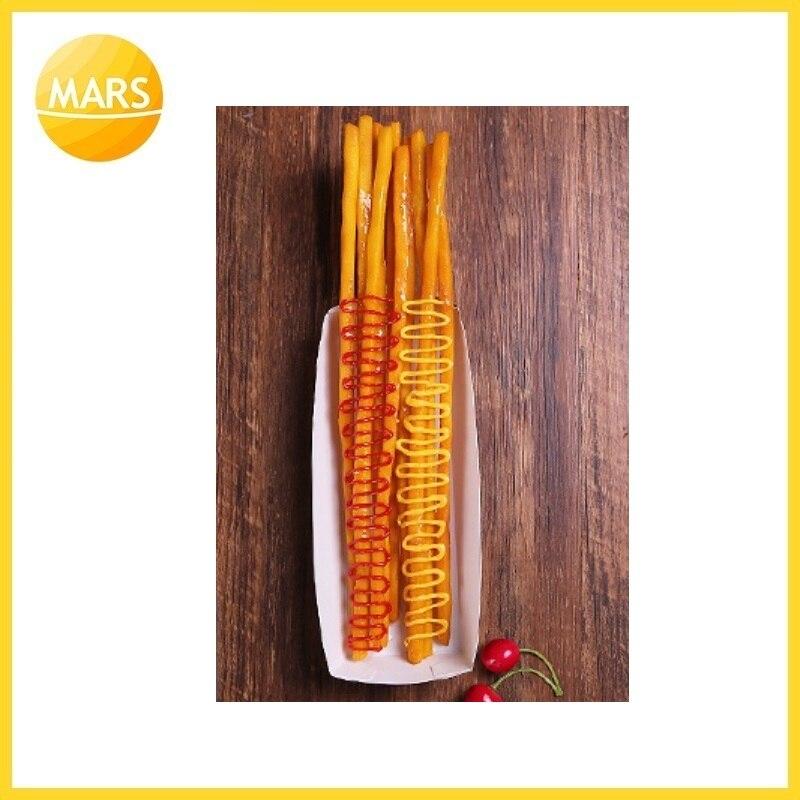 Длинный картофель фри модель поддельные самые длинные картошка фри модель формы ног длинные чипы образец закуски муляжи пищевых продуктов ... - 3