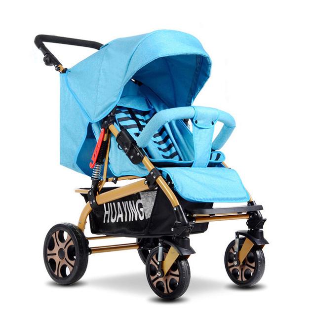 Infantil Carrinho de Alta Paisagem 4 Rodas Do Carrinho de Bebê de Luxo Multi-Uso Criança Carrinho De Criança Carrinho De Bebê Pode Se Sentar e Deitar