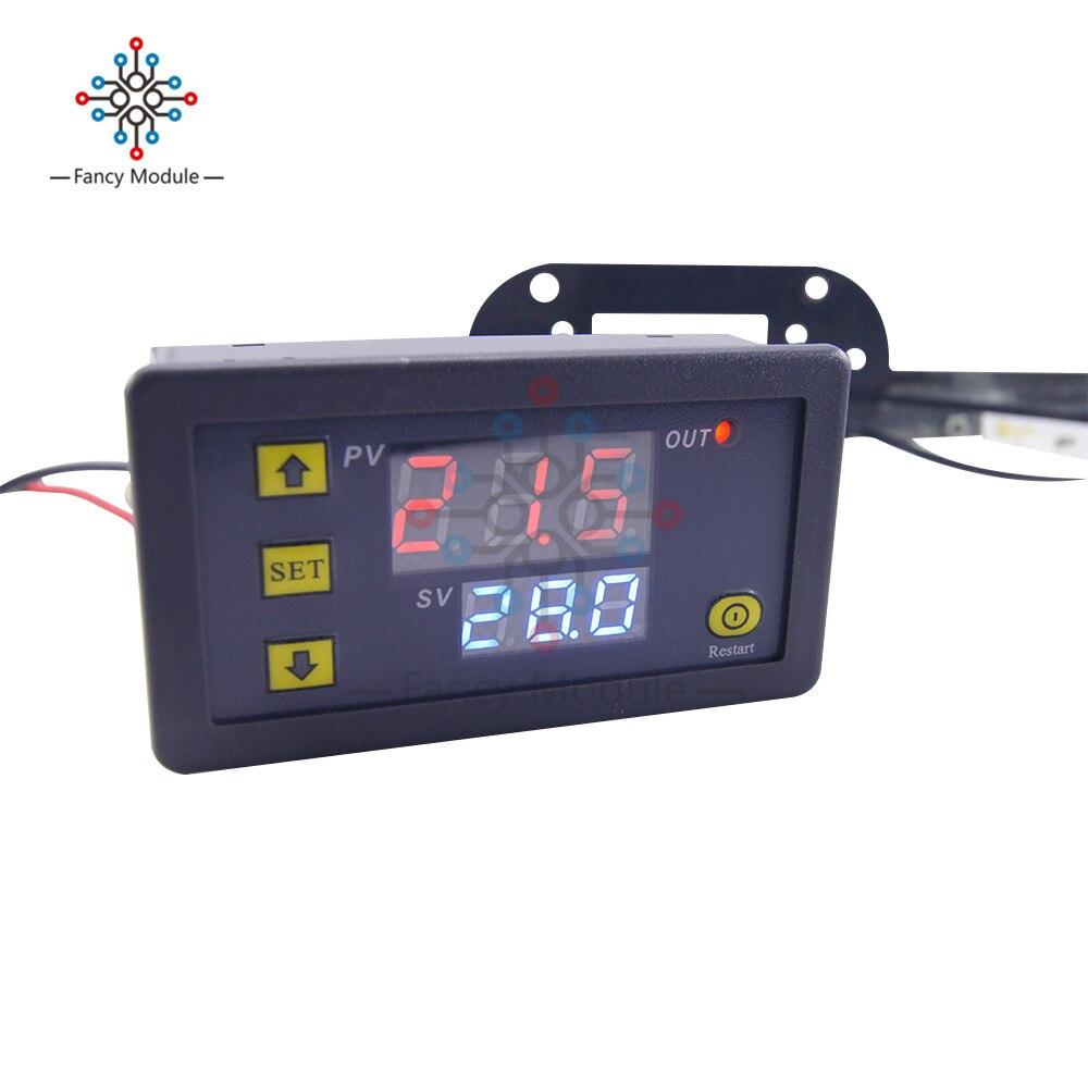W3230 Dual Rot/blau Led Digital Display Temperatur Controller Mit Temperatur Sensor Sonde Thermostat Regler Ac 110-220 V