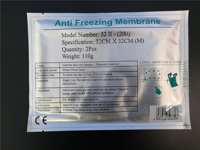 Antifreeze Membranes Anti Freezing Membrane Mask For Slimming Coolshaping Machine