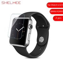 SHELKEE For iWatch Series 1/2/3 Tempered Glass Protective Film 3D Full Cover Screen Protector Apple Watch 38mm 42mm 2 pcs