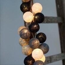 20 UNIDS, luces de navidad, luces de la secuencia garland, AC110V/220 V, bola de algodón, casa decoración de interiores, decoración de la boda de hadas de luz