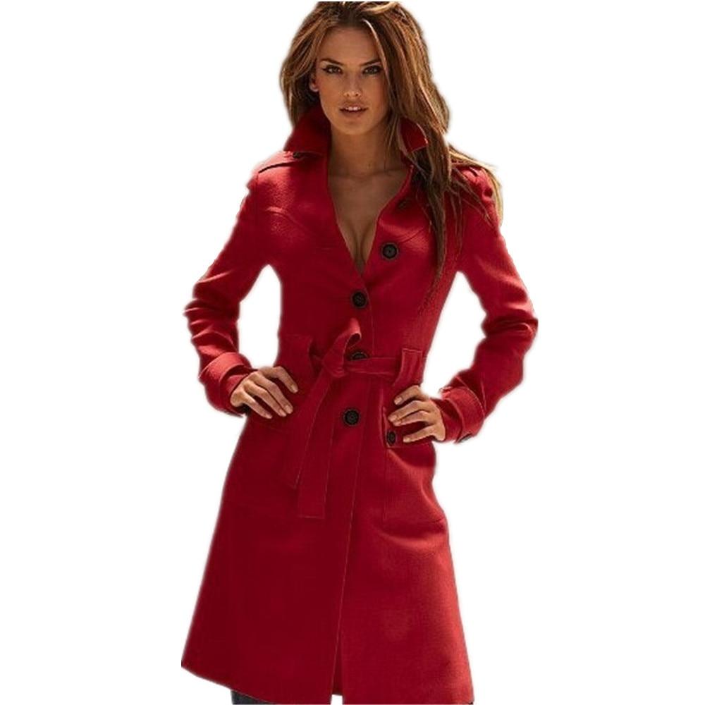 nuevo producto 70a70 17830 € 41.69 45% de DESCUENTO|2019 abrigo largo de moda para Mujer, abrigo de  invierno, Mujer, estilo americano, ropa elegante, mezcla de lana, gabardina  ...