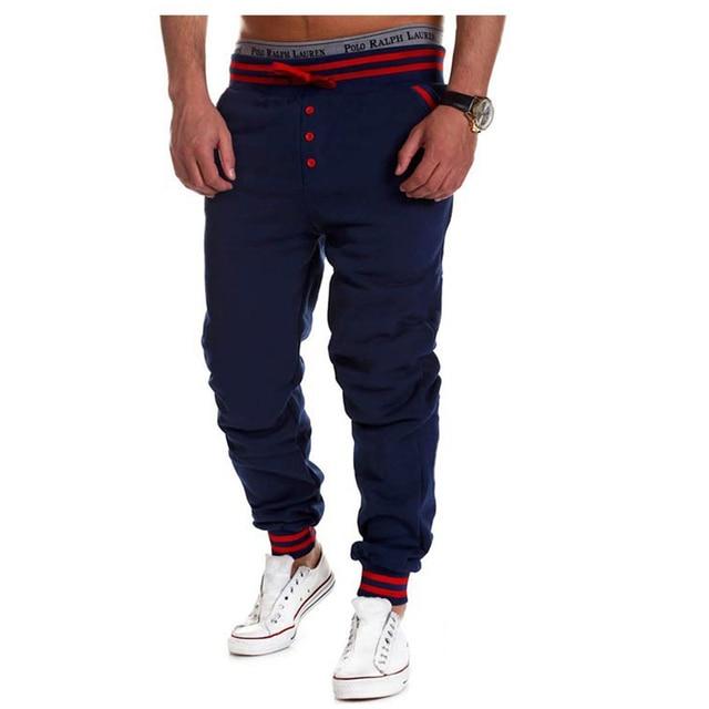 Contrast Color Elastic Men's Pants 4