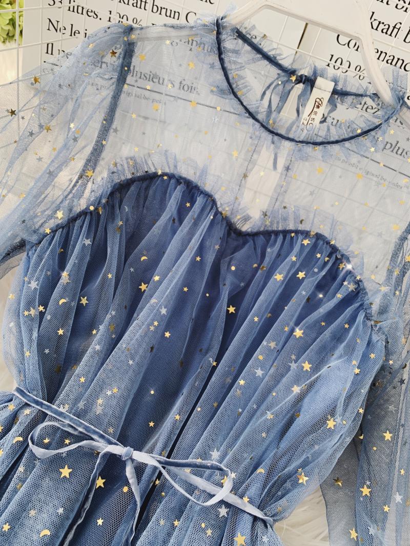 Gauze Two Piece Midi Dress 6