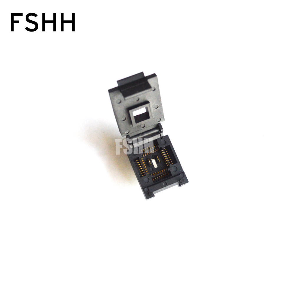 FSHH QFN32 WSON32 UDFN32 MLF32 ic test socket Size=3.2mmx13.2mm Pin pitch=1.27mm fshh qfn32 to dip32 programmer adapter wson32 udfn32 mlf32 ic test socket size 3 2mmx13 2mm pin pitch 1 27mm