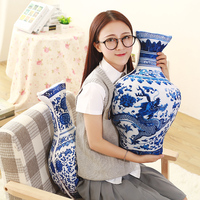 50cm 2017 New Artificial Vase Pillow Printing Cushion Vase Plush Toys Wholesale Tuffed Plush PP Cotton