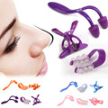 1 Set Nose Clip Up Bridge Straightening Beauty Clip + Lifting Shaping Shaper + Nose Massage Langetka Nose Correction Set