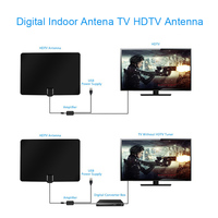 Amplified Antena HDTV 50 Miles Zakres Zakres Cyfrowa Antena TV Wzmacniacz Sygnału Wzmacniacz 13ft Kabla Dla Smart TV Android
