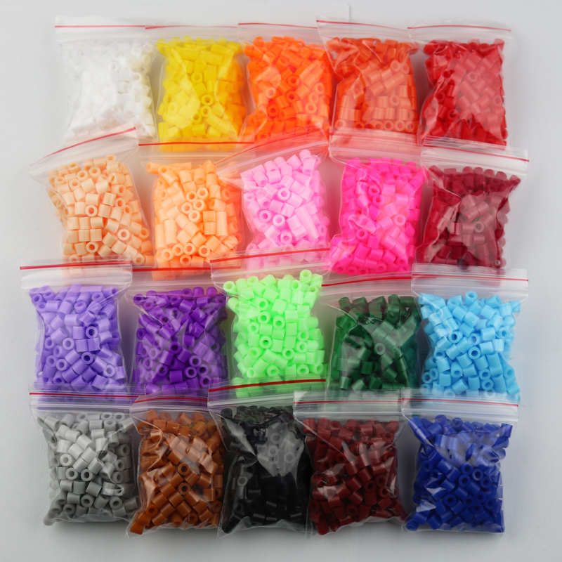 20 colros/5mm hama beads fuse beads Educational toy kids diy handmaking toys perler PUPUKOU beads