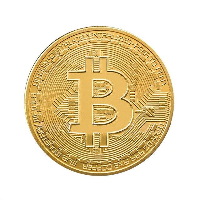 Vergoldet Bitcoin Gedenkmünze Sammeln Btc Münzen Gold Platte Kunst