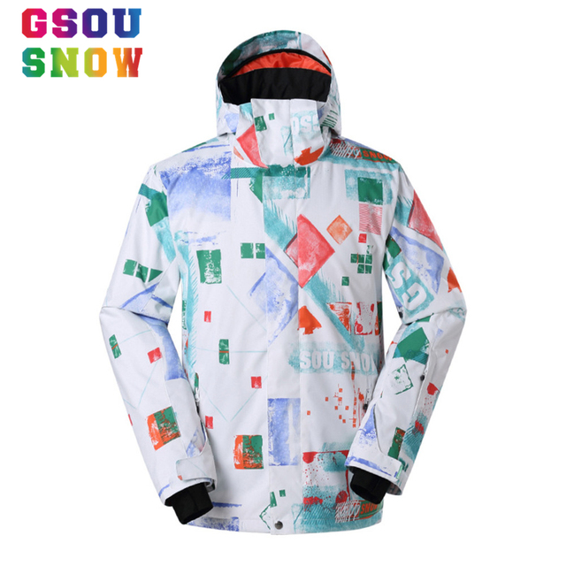 e1553b8ecf Super Sale Gsou Snow Ski Jacket Men Waterproof Windproof Snowboard Jackets  Colorful Printed Outdoor Sports Cheap Winter Coats
