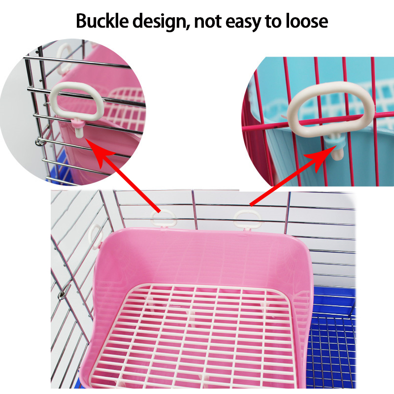 Hot Sell Rabbit Toilet Tray Plastic Heightening Guinea Pig Toilet Pet  Accessories Chinchilla Rabbit Potty Pets Supplies