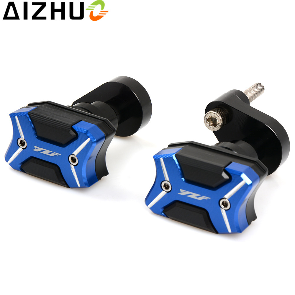 with YZF logo Motorcycle Frame slider Falling Protector CNC Aluminum Alloy motor Anti Crash Protection For Yamaha R6 2006-2015