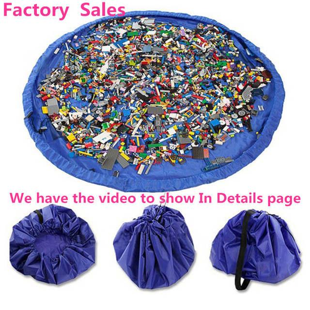 Xl Lego Organizador Caja Bolsas De Juego Portátil Moda Almacenamiento Y Juguetes Bolsa Alfombra Juguete Bin Práctica rxCoBdeW