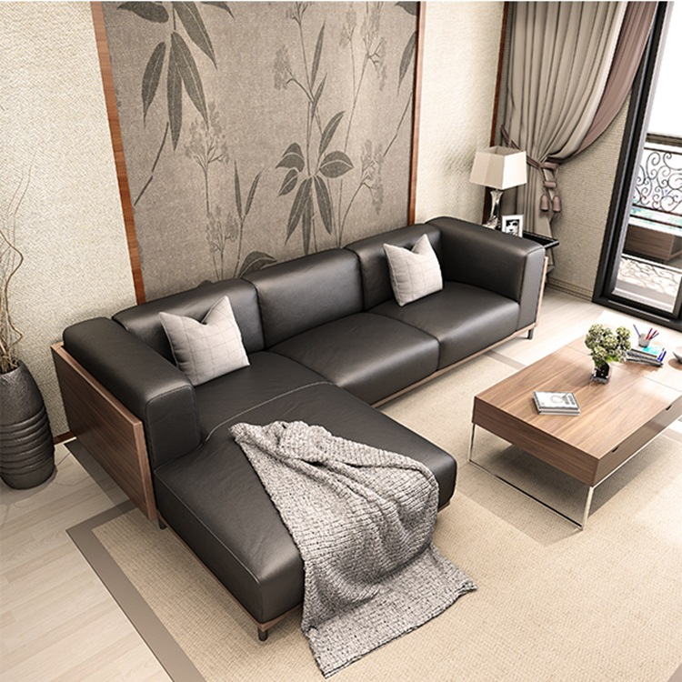 1 3 seat lounge lot pu living room combinational sofa set for Lots of seating in small living room
