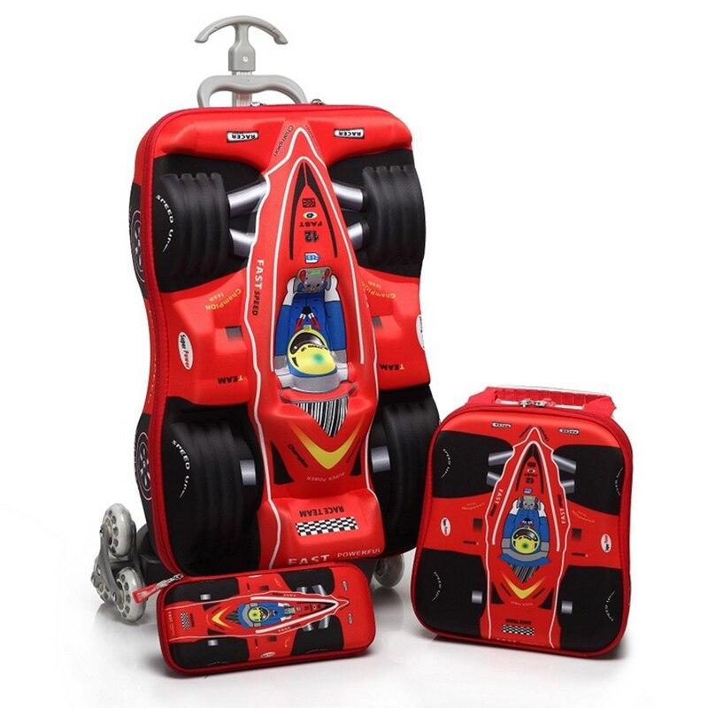Baigio Baby Boys Cartoon Plane EVA 18 '' 3D Bagage Barns Hjulvagn - Väskor för bagage och resor - Foto 2