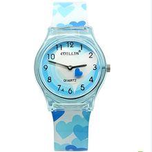 2016 NUEVA Marca Willis reloj de señoras de las mujeres reloj de cuarzo resistente al agua relojes de moda de resina niño jalea relojes Relojes de las mujeres