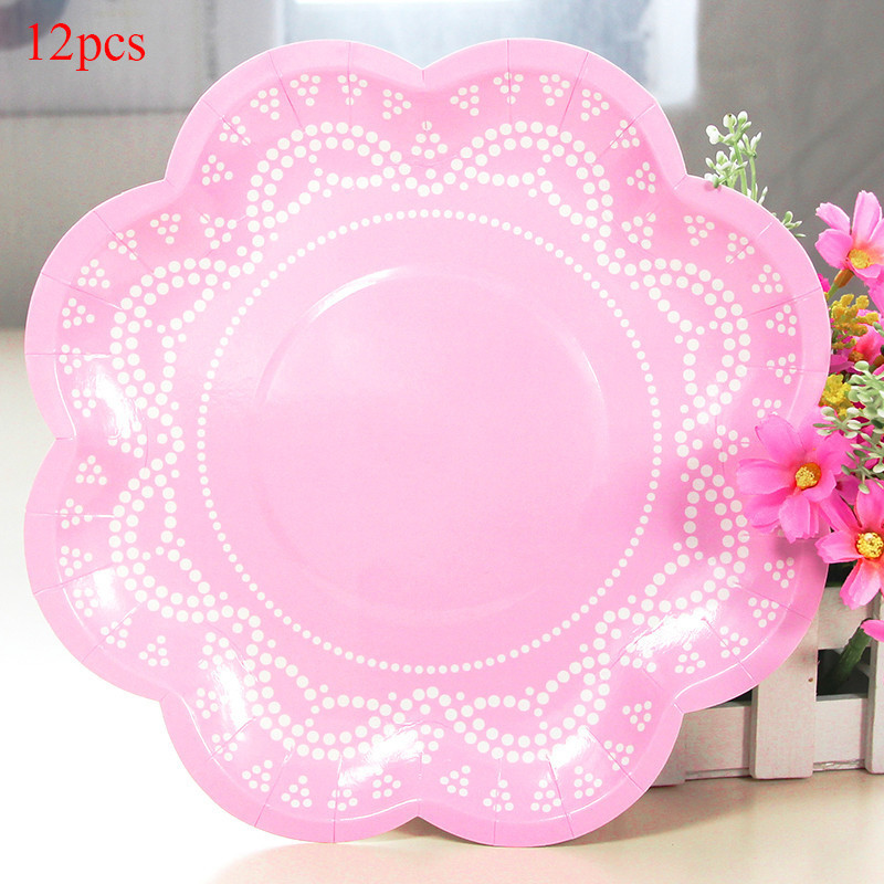 56pcs/lot Disposable Flower Paper Plates for Wedding Cups Cake Wrappers Napkins Decorative Dinnerware Set for Baby Shower-in Disposable Party Tableware from ...  sc 1 st  AliExpress.com & 56pcs/lot Disposable Flower Paper Plates for Wedding Cups Cake ...