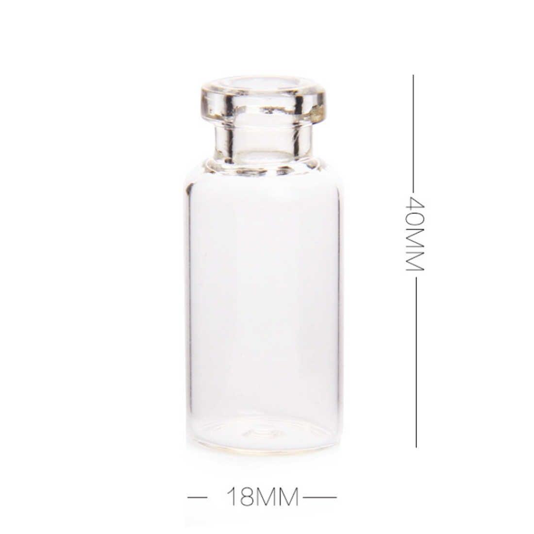 50 Uds 18X40mm 5 mini vaso de ml frascos de muestra vacíos con tapones de corcho para decoración artesanal DIY-transparente