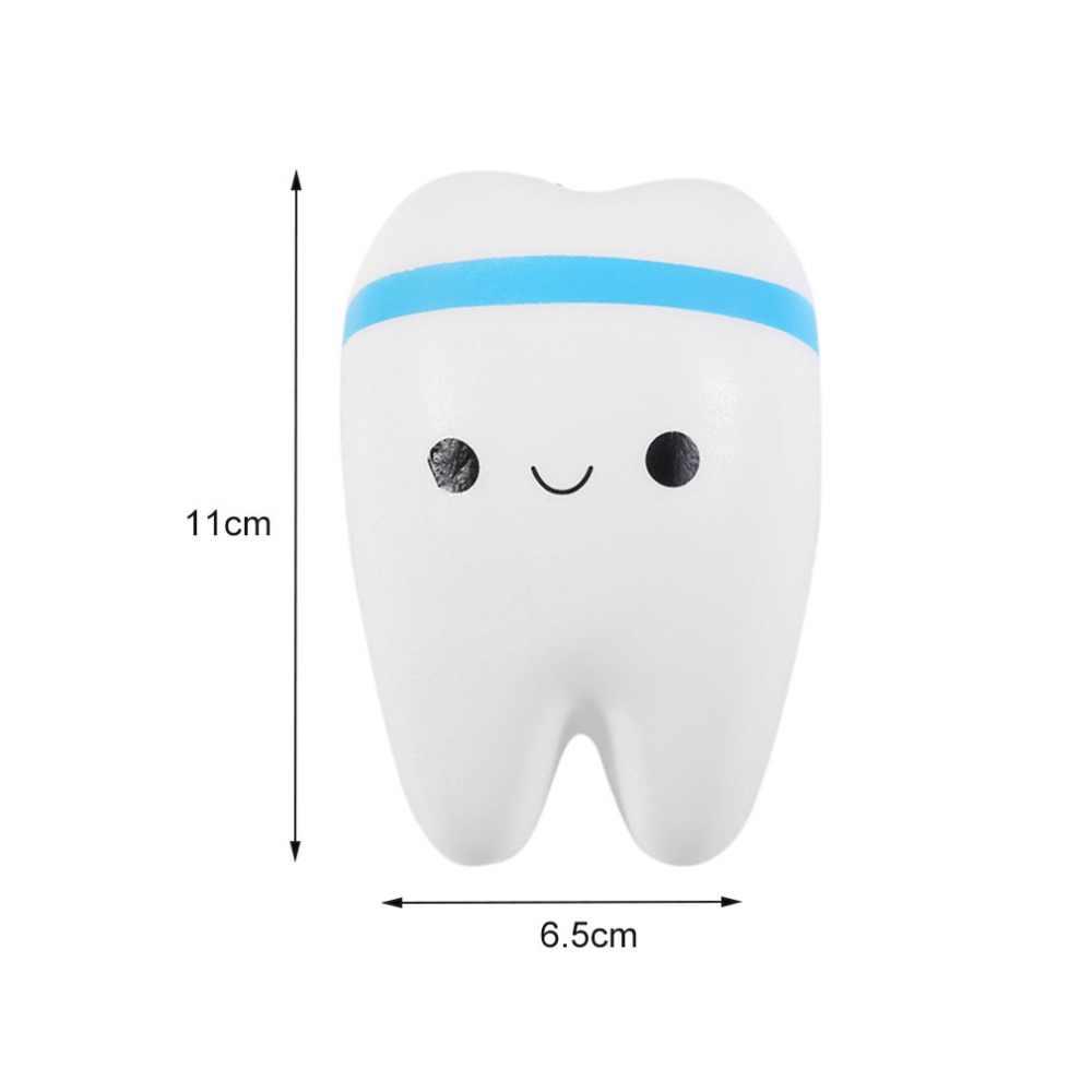 Kawaii мягкий милый зуб медленно поднимающийся Jumbo Squeeze сотовый телефон ремешок цепь игрушка-брелок для huawei samsung Xiaomi LG htc