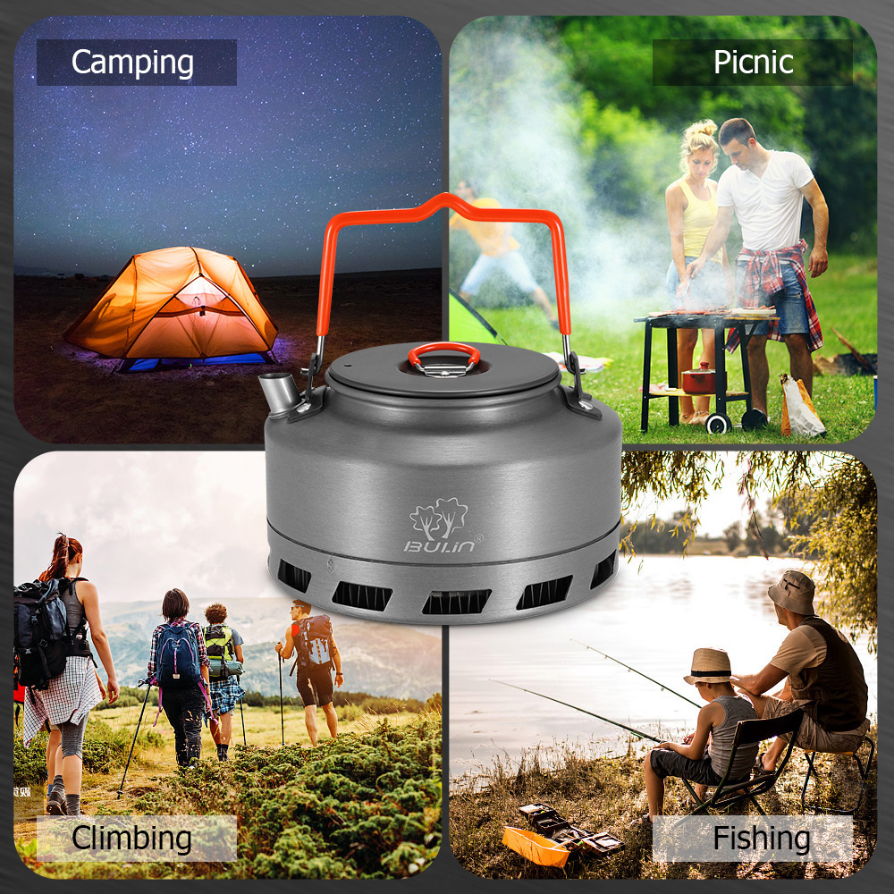 Image 5 - 1.1L Portable Kettle Water Pot Teapot Coffee Pot Indoor Whistling Aluminum Alloy Tea Kettle Outdoor Camping Hiking Picnic Kettle-in Outdoor Tablewares from Sports & Entertainment