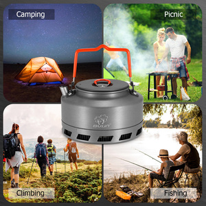 Image 5 - 1.1L Portable Kettle Water Pot Teapot Coffee Pot Indoor Whistling Aluminum Alloy Tea Kettle Outdoor Camping Hiking Picnic Kettle