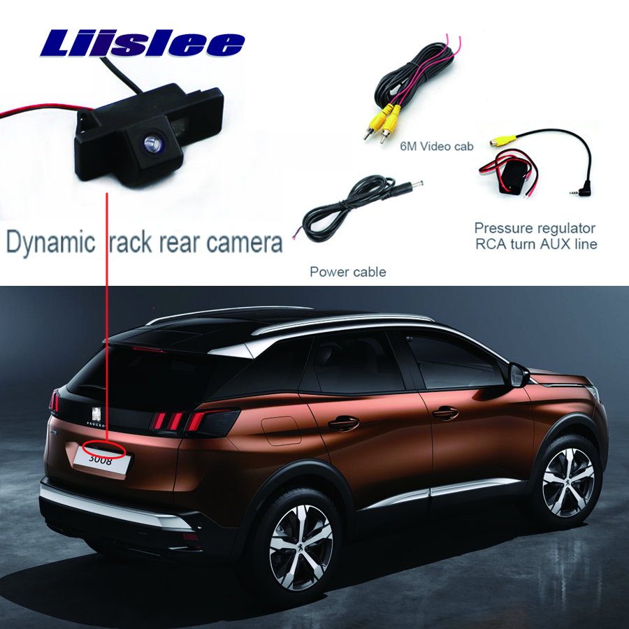 Liislee For Peugeot 3008 3008CC 5D Rear View Camera  Parking Reverse Backup Camera + Waterproof  HD CCD Night Vision Camera