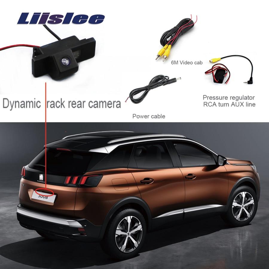 Liislee For Peugeot 3008 3008CC 5D Rear View Camera  Parking Reverse Backup Camera + Waterproof  HD CCD Night Vision Camera