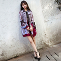 New lady printed scarves Spring and summer national wind cotton and linen sun shawl