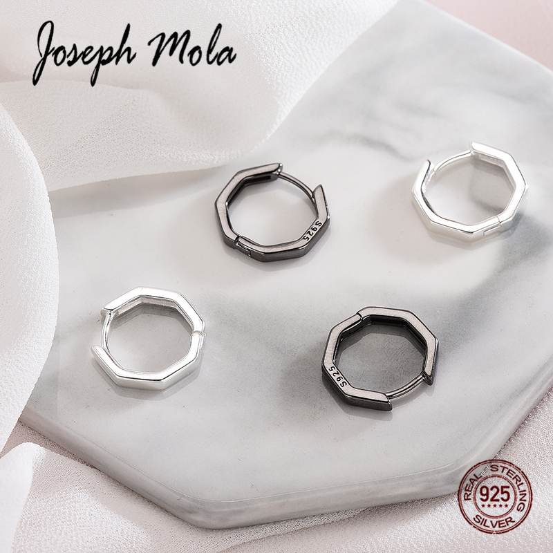 Stud Earrings Joseph Mola 925 Sterling Silver Geometric Stud Earring For Women Simple Pattern Designed Round Square Triangle Hexagon Hearth