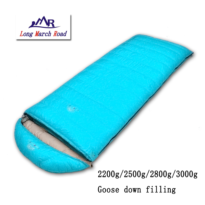 LMR ultralight 2200g/2500g/2800g/3000g goose down filling can be spliced envelope mountaineering camping winter sleeping bag g