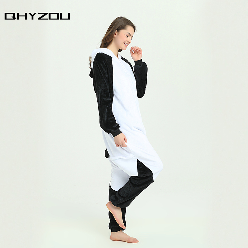 Kawayi Black KungFu Panda Onesie Women Unisex Onsie Fancy Pyjamas Sleepwear Kigurumi Pajamas Unicornio Pijamas