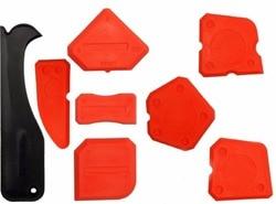 Professionelle Silikon Finishing Werkzeug Silikon Verbreitung Werkzeug Dichtstoff Treuer Forming Schaber mit Kartuschen Kit Tool Set von 8