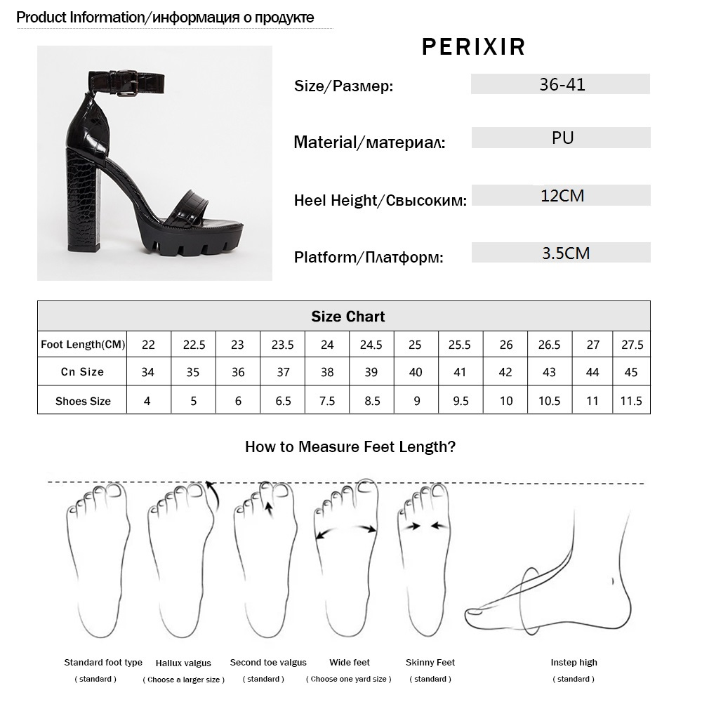 Perixir Women Shoes High Heel Sandals Ankle Wrap Buckle Strap Cover Heel Shoes Block Heel Fashion Lady Sandals Platform Heels