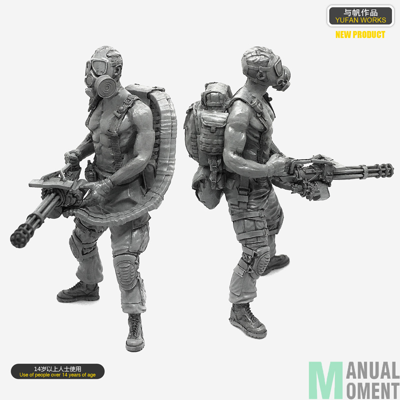 Miniature 1/35 Doomsday Biochemical Harvester Individual Soldier Resin Model Figure Kit A18-10